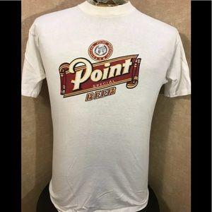 VTG 80s Stevens Point Beer T-Shirt Mens Large
